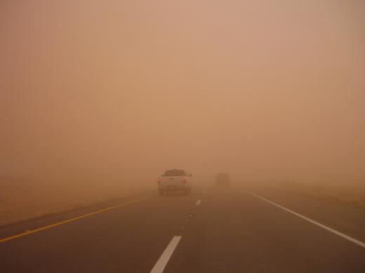 途中の砂嵐