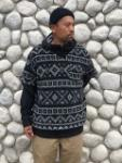 U Neck Popover (Fair Isle Sweater Knit)