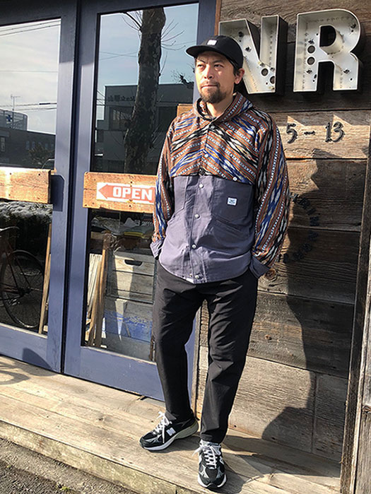 Garden Cruiser Bud Jacket (Oxford×Ikat)