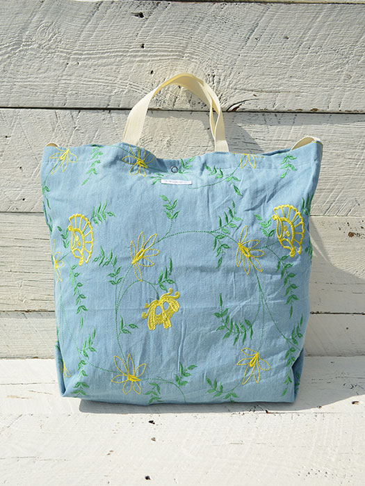 Carry All Tote (Denim Floral Embroidery)