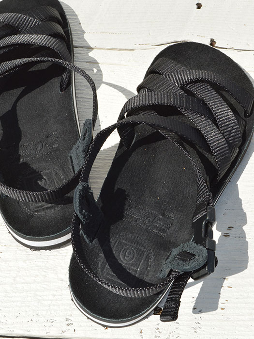 "【The Sandalman × Sunny Sports】 Weave Sandal (Nylon × Suede) ""Birken Sole"""