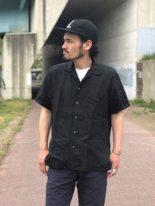 NAT-U-RAL別注 Camp Collar S/S Shirt (Linen)