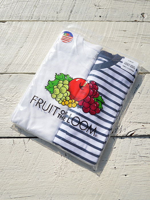 【FRUIT OF THE LOOM】 2P PACK TEE