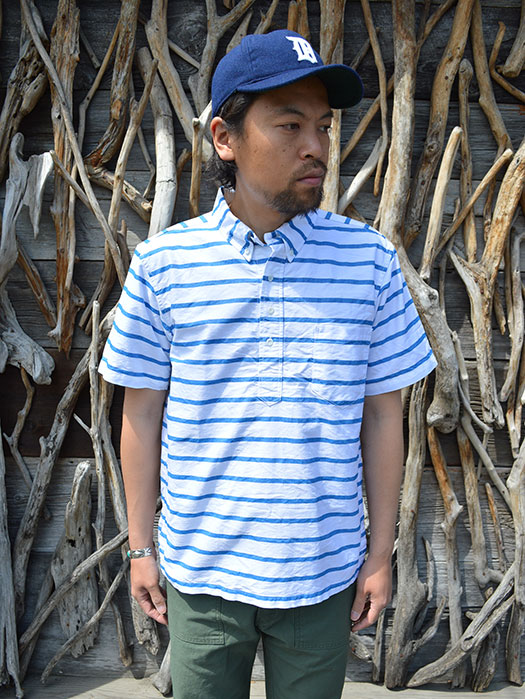 S/S PULLOVER BD SHIRT (BORDER OXFORD)