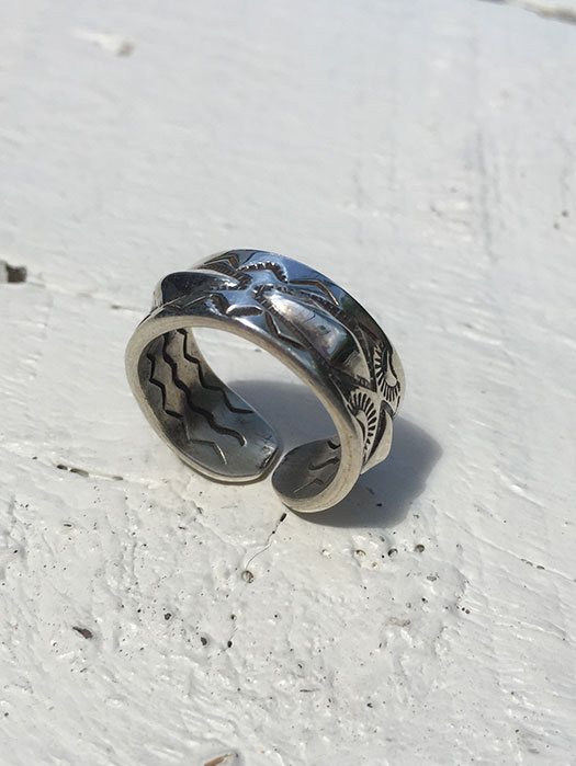【Ray Adakai】 Double Stamp Ring Open End