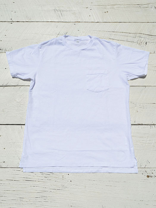 【Engineered Garments Workaday】 Crossover Neck Pocket Tee