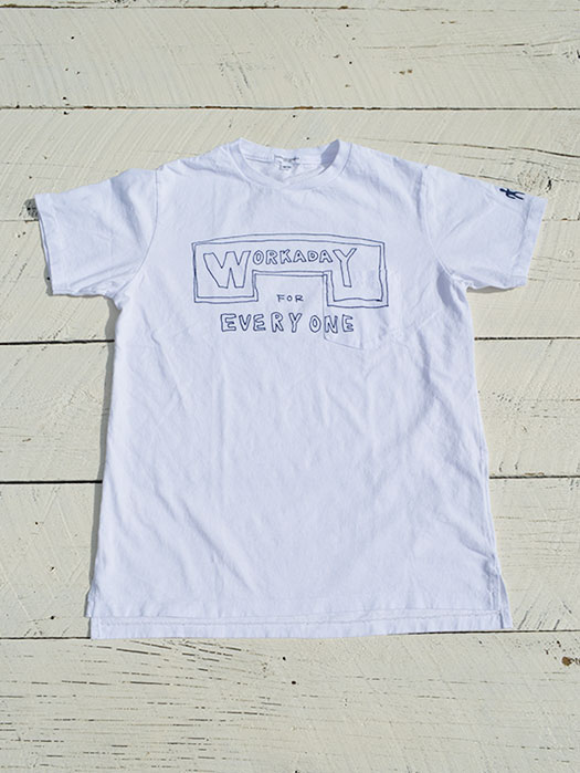 【Engineered Garments Workaday】 Printed Crossover Neck Pocket Tee (Everyday)