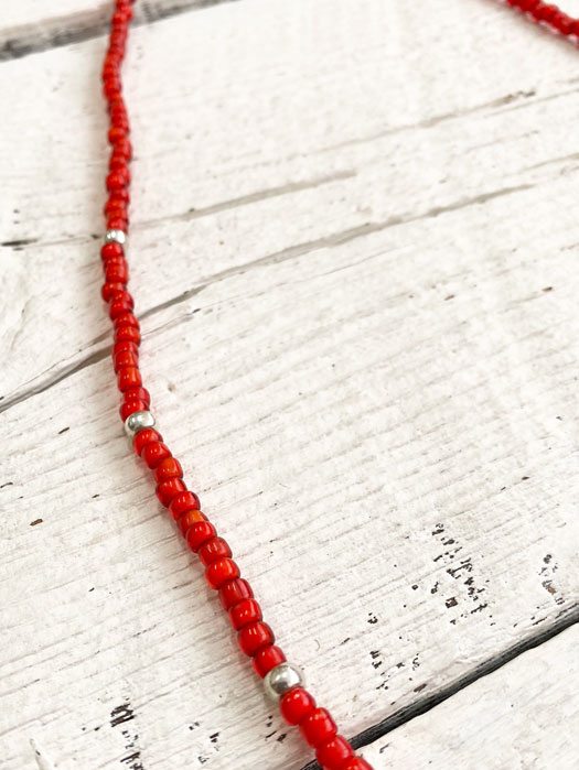 Antique Red Beads Necklace