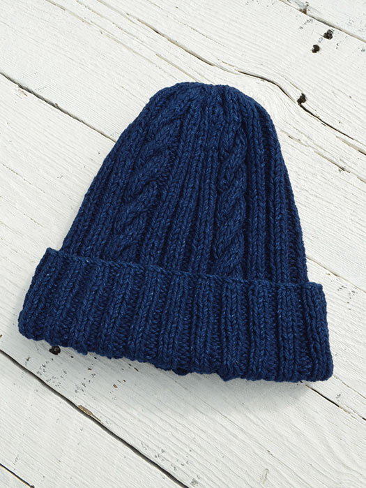 22F Cotton Denim Hand Knit Cap (Heavy Weight)
