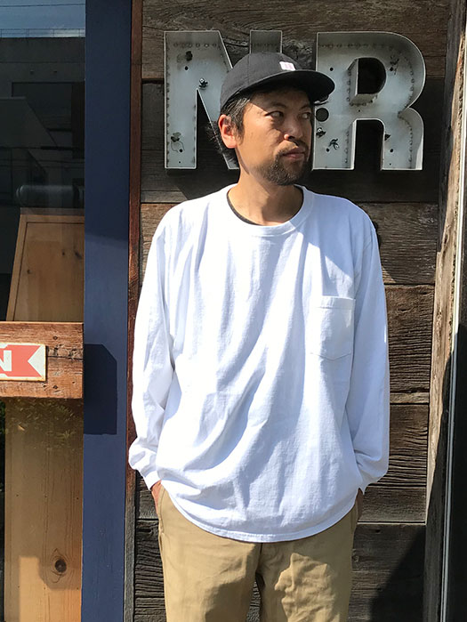 Big L/S CREW POCKET Tee