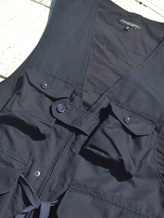 "Game Vest (Double Cloth) ""Navy"""