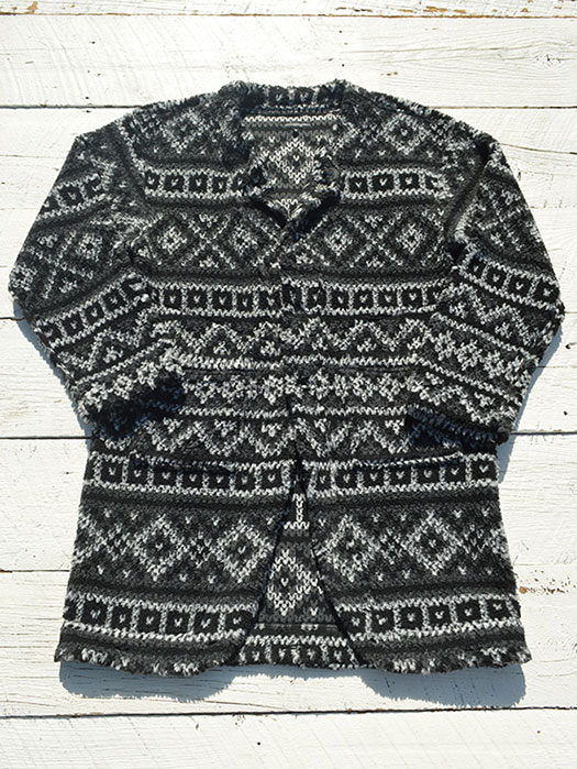 Knit Long Cardigan (Fair Isle Sweater Knit)