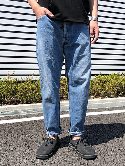 "【KNIFEWING】 USA Levi's 501 WIDE Tuck Pants (Size M)""O"""
