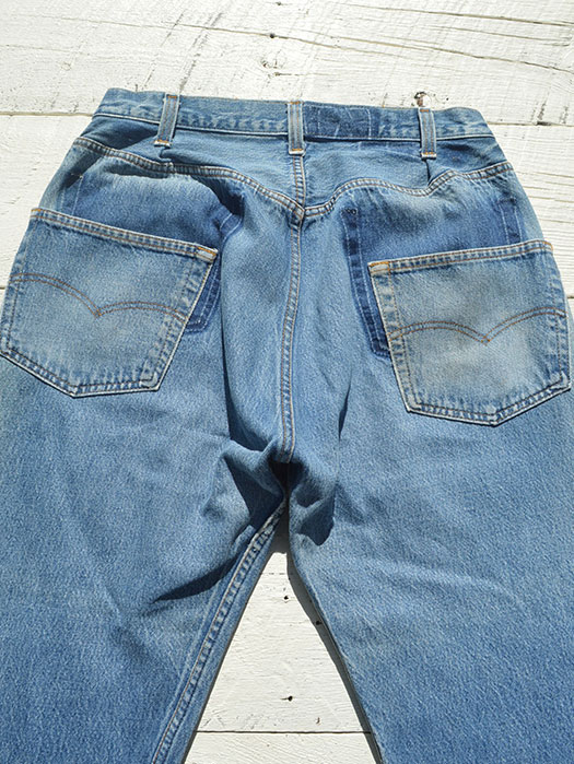 "【KNIFEWING】 USA Levi's 501 WIDE Tuck Pants (Size M)""S"""