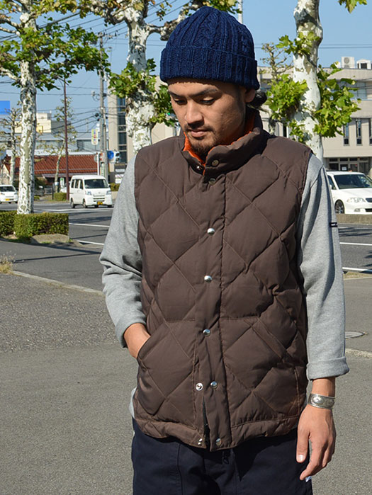 【30% OFF】 Round Tail Quilted Italian Vest (60/40) (NR別注)