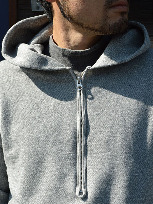ROUGH 1/2 ZIP PO HOOD SWEAT