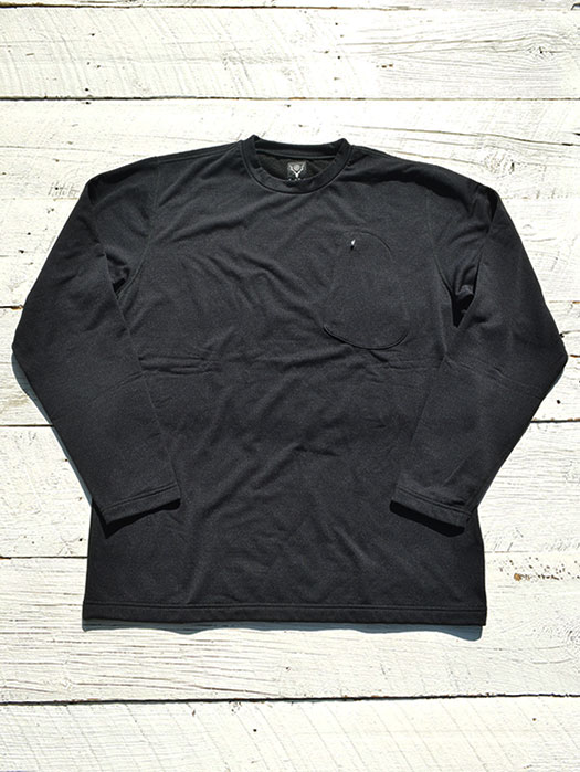 Zip Pocket L/S Tee (Shearling Grid)