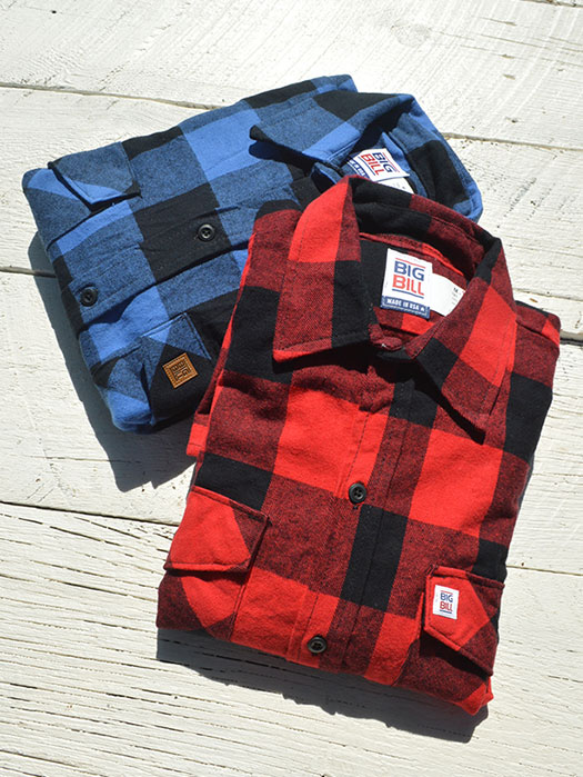【BIG BILL】 L/S FLANNEL SHIRT