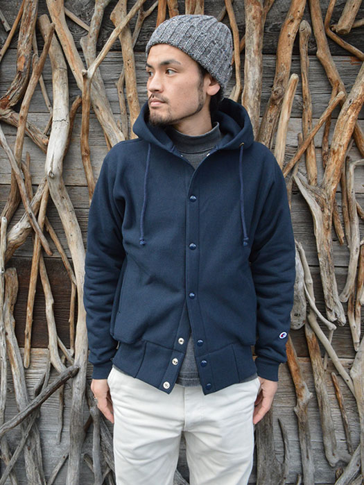 Snap Hood Sweat Parka (MADE IN USA)