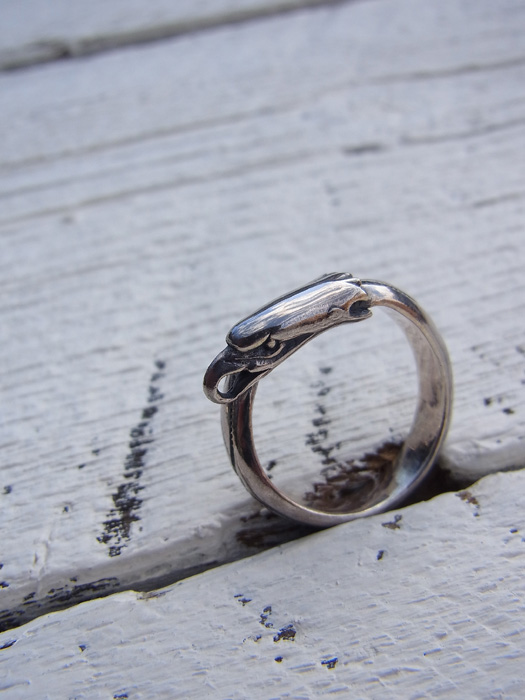 Eagle Head Stamp Ring